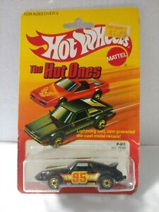 1983 HOT WHEELS The Hot Ones  P-911 TURBO BLACK Vintage Diecast 1:64 Porsche 911