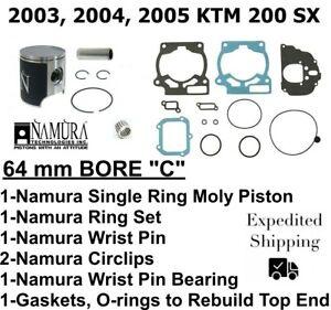 NAMURA PISTON KIT STANDARD TO 63.94MM FOR KTM 200MXC 98-03 200SX 98-04 /& MORE