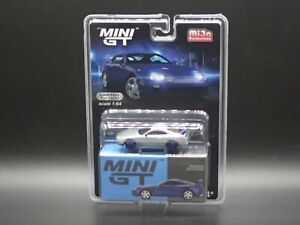TOYOTA SUPRA BLUE RAW CHASE TSM MODEL MINI GT 1/64 SCALE MIJO EXCLUSIVE 2021