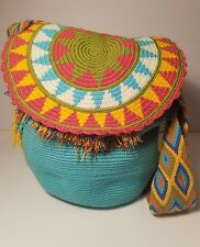 AUTHENTIC MOCHILA WAYUU HANDMADE/ BEACH BAG FREE SHIPPING+FREE BRACELET!!