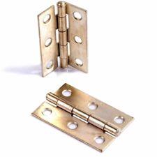 "2 x BRASS 2""/50mm Small Butt Hinge Furniture Chest Trunk Cabinet Cupboard Door"