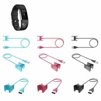 USB Cable Charging Dock Smart Band Charger Replacement For Fitbit Charge 3 2 US