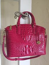 Brahmin Duxbury Satchel Punch Pink Melbourne Leather Fuchsia