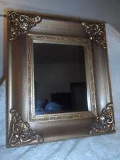 Antq~Vtg Ornate Gold Gilt Wood & Gesso Framed Victorian Wall Mirror Vanity Decor