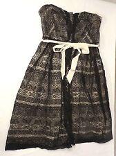 Anthropologie Moulinette Soeurs Peeking Needlework Black Lace Dress, 6, New*SALE