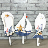 Wooden Nautical Coat Hat Clothes Towel Wall Hooks Hangers A US!