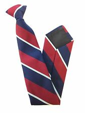 RAF Royal Air Force Regimental Striped Clip on Tie Regiment