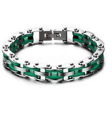 Choose Stainless Steel Motorcycle chain design Women Men's Bracelet 10mm 8.5''