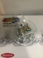 Tea glasses With Evil Eye set 4 Glass 4 Saucer Turkish Tea Glasses Free UK Post