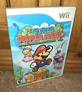 MARIO-RIFFIC Nintendo Wii Super Paper Mario 100% COMPLETE & TESTED Near MINT!
