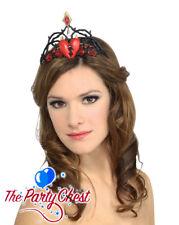 QUEEN OF BROKEN HEART TIARA Gothic Princess Storybook Fancy Dress Accessory 7487