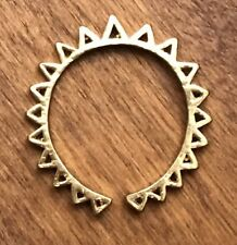 CHIBI JEWELS New York BRASS Triangle Cut Out Ring Adjustable Used