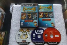 RAYMAN 10th ANNIVERSARY PS2 V.G.C. FAST POST ( 3 title pack limited edition )