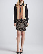 Haute Hippie Embellished Pencil Skirt $495 Size 0