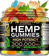 Hemp Gummies for Stress Relief - Gummy - Great for Pain, Insomnia & Anxiety