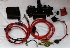 BMW E46 Rear Trunk Battery Retrofit Cables Wiring Red Bracket Set 330 M3 OEM