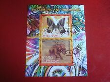 MALAWI: 2008 BUTTERLIES & DINOSAURS III MINISHEET UNMOUNTED USED MINIATURE SHEET