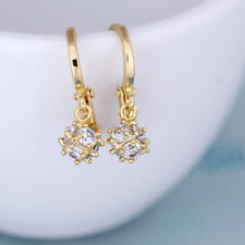 Hanging Charms Jewelry Gold Color Party Hoop Earring Zircon Earrings Crystal
