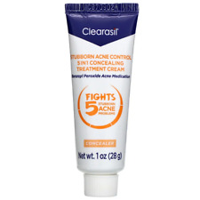 Clearasil Stubborn Acne 5 in 1 Spot Cream 10% Benzoyl Peroxide 1oz (28g)
