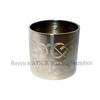 PLAIN NICKLE SILVER COLLAR FOR WALKING STICK CELTIC KNOT ENGRAVED