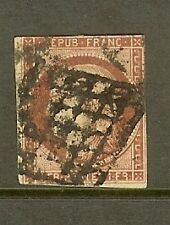 "FRANCE STAMP TIMBRE N° 6 "" CERES 1F CARMIN "" OBLITERE A VOIR"