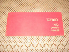 1972 FORD TORINO OWNERS MANUAL ORIGINAL GLOVEBOX BOOK