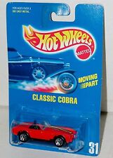 Hot Wheels Classic Cobra Shelby Plastic Base Blue Card Collector #31 Malaysia 91