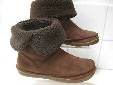 NEW Clarks Ladies Winter Ankle Boots NETTLE LEAF brown UK 5 38 faux sheepskin