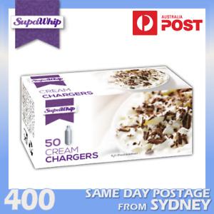 SUPAWHIP WHIPPED CREAM BULBS 50 PACK X 8 (400 CHARGERS) PURE NITROUS OXIDE N2O