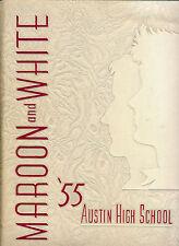 Chicago IL Austin HIgh School yerabook 1955 Ilinois