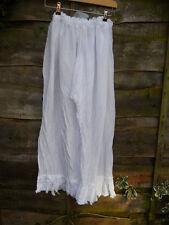 ONE SIZE RITANOTIARA WHITE COTTON LAGENLOOK ROMANTIC BLOOMERS FRILLY PANTS