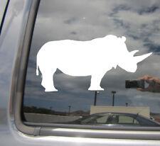 White Rhinoceros Rhino Africa Safari Car Bumper Window Vinyl Decal Sticker 01469