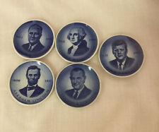 Royal Copenhagen Denmark 2010 Mini Plate Us President Set of 5 Plates