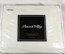 Light Ivory QUEEN Sheet Set 100% Cotton Sateen 310TC Peacock Alley New