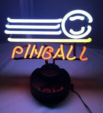 Neon Light Pinball Game Sign ~ Lamp Bar Pub ~Real Glass