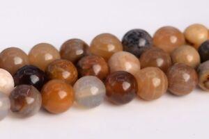 "4MM Natural Petrified Wood Jasper Grade AAA Round Gemstone Loose Beads 15.5"""