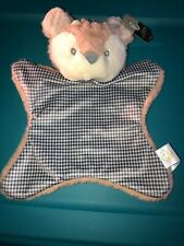 Nwt Animal Adventure Deer Fawn Plush Security Blanket Soft Velour Baby Lovey Toy
