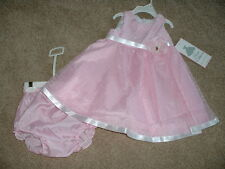 Rare Editions Pink Dress Set Boutique Baby Girls Size 18 Months 18M NWT NEW Cute