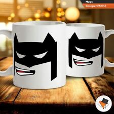 Batman cartoon illustration coffee tea mug cup gift birthday anniversary C
