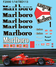1/18 Ferrari F1 F2000 Michael Schumacher Decals TB Decal TBD113