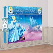 Disney Princess Cinderella Scene Setter Wall Decoration Kit Birthday Party Decor