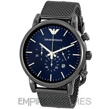 *NEW* MENS EMPORIO ARMANI LUIGI GREY MESH STEEL WATCH - AR1979 - RRP £299.00