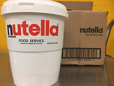 NUTELLA 6.6# BIG #10 TUB Hazelnut spread cocoa BB Oct 23, 2017 restaurant LARGE