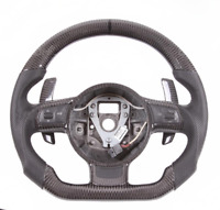 Real Carbon Fiber Flat Sport Customized Steering Wheel for Audi R8 TT TTS2012-15