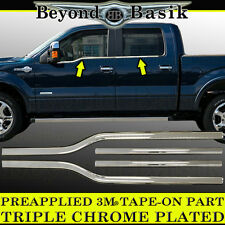 2009-2014 Ford F150 F-150 4Dr Crew Cab Chrome Window Sill Trims Covers Overlays