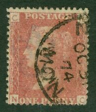 SG 43 1d rose red plate 165. A very fine used CDS example