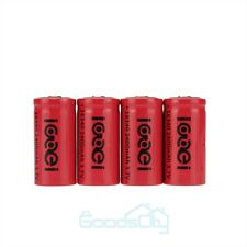 4 X 2400Mah 3.7V 16340 Li-ion Rechargeable Battery For LED Flashlight / Camera