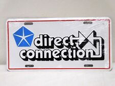 1970's Direct Connection License Plate - NEW In Plastic Plymouth Dodge Chrysler