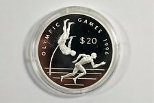 20 Dollar 925 Silber - Olympic Games 1996 - Cook Islands 1993 Olympia / S7