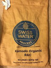 5 lbs. Komodo Certified ORGANIC DECAF Green Coffee Bean Swiss Water Process 2018